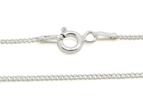 [925 Sterling Silver 1.3 mm Curb Chain Size: 14 16 18 20 22 24 28 inch (28