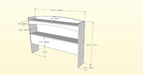 Alegria  Full Size Headboard From Nexera Natural Maple Furniture