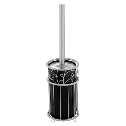 InterDesign Twigz Bowl Brush, Silver/Black