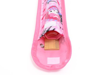 School Assistant recorder & ruler case Argyle and a kitten Princess made in Japan N4224400