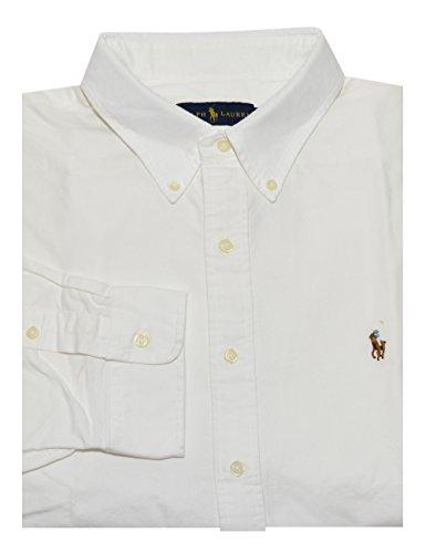Polo Ralph Lauren Mens Classic Fit Buttondown Oxford Shirt (White, X-Large) (Polo Classic Fit Button Down compare prices)