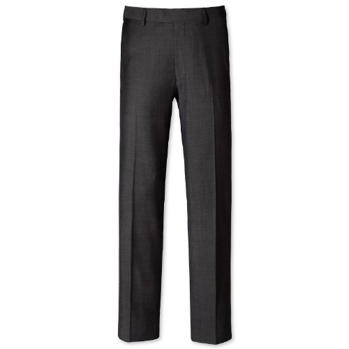 Charles Tyrwhitt Grey tonic tailored fit travel suit trouser (36W x 34L)