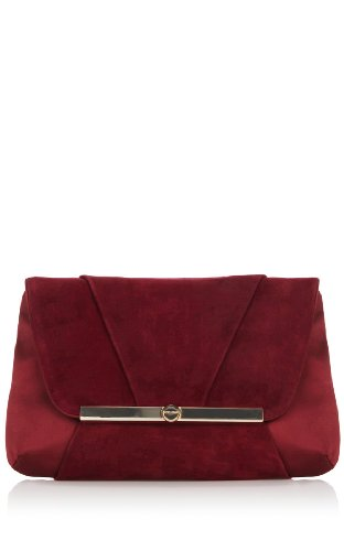 Satin and Suede Clutch