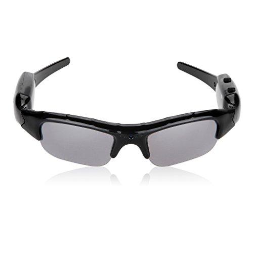 メガネ型ビデオカメラ PCサングラス microSD対応(最大32GB) メガネ 小型カメラ 撮影 録画 防犯 登山、旅行やサイクリングなどのスポーツにピッタリ
