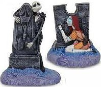 Nightmare Before Christmas Jack and Sally Salt & Pepper Shakers
