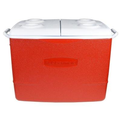 Rubbermaid Leak Resistant, Odor Resistant 50 Qt. Insulated Modern Red Cooler (Travel Cooler Rubbermaid compare prices)