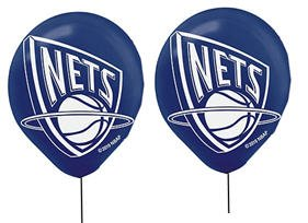 "NBA New Jersey Nets 12"" Latex Balloons - 6pack"