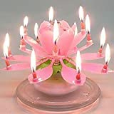 Musical Flower Birthday Candles Pink