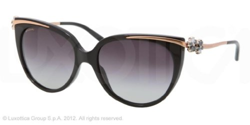 Bvlgari  Bulgari Sunglasses BV8089K 5195-3C Shiny Black/Gold 8089 Le Gemme Collection