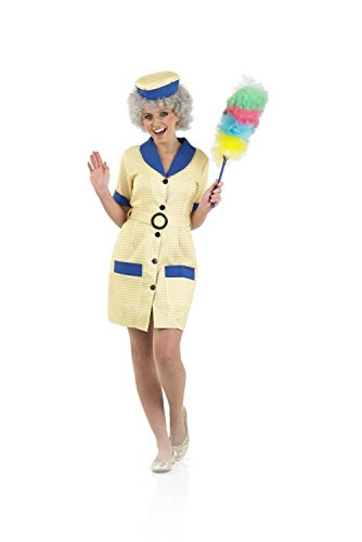 Fun Shack Hi De Hi Peggy Cleaner Costume - Small size only