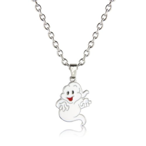 Children's Halloween Ghost Costume Jewellery Fashion Necklace - Matching Earrings - arrives in a pretty Gift Bag.