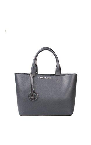 ARMANI JEANS Borsa shopping piccola a mano in saffiano DARK NAVY 922531CC856 31835