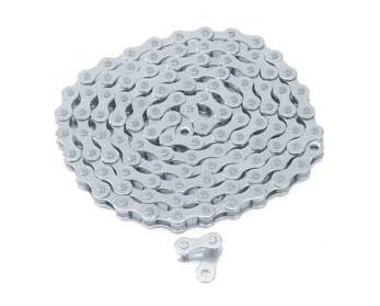 Bike | Bicycle Chain 1/2×1/8×112 White/Chrome