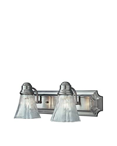 Bel Air Lighting Argenta 2-Light Bath Bar, Brush Nickel