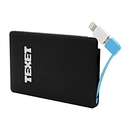 Texet-Credit-Card-Style-2500-mah-Powerbank-|-BIS-Certified-2500-mAh-Extra-Slim-Power-Bank-for-Apple-&-Android-devices-with-Included-lightning-adapter