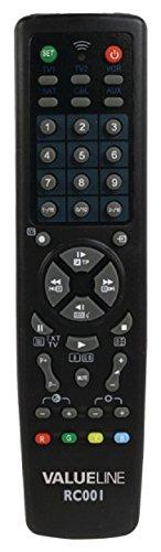 Valueline Telecomando Universale 10 in 1, Nero
