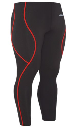Emfraa Skin Tights Compression Leggings Running Baselayer Pants Mens Womens Black S ~ 2XL