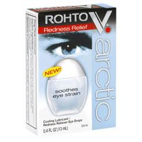 Rohto V. Arctic Cooling Lubricant/Redness Relieving Eye Drops, 0.4-Ounce Bottles