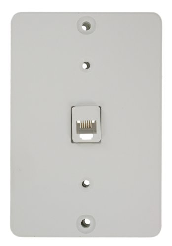 Leviton 40263-W Telephone Wall Phone Jack, Quick Connect, White