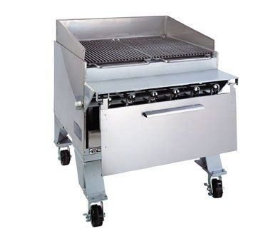 Bakers Pride Dante Extra Heavy Duty CHJ Floor Cajun Radiant Gas Char Broiler, 57 3/4 x 36 1/4 x 40 inch -- 1 each.