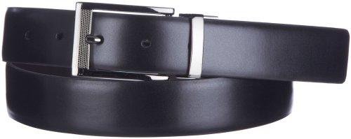 Boca Classics Square Buckle Reversible Belt 40 Black/brown