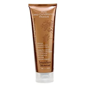 Brazilian Blowout Acai Deep Conditioning Masque, 8 Ounce