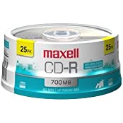 Maxell 648446 25pk Cdr 48x 700mb Color Spindle