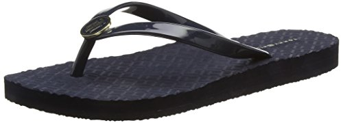 Tommy Hilfiger M1285Onica 33R - Chanclas Mujer, Azul (MIDNIGHT), 38