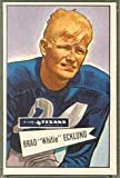 1952 Bowman Regular (Football) Card# 35 Brad Ecklund of the Dallas Texans ExMt Condition