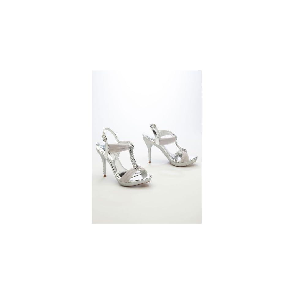 319fed848 Davids Bridal Wedding   Bridesmaid Shoes High Heel Sandal with on ...