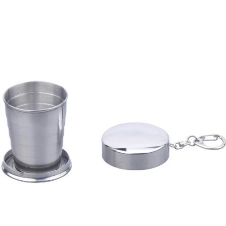 Mini Stainless Steel Portable Folding Collapsible Picnic Travel Cup Telescopic