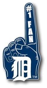 MLB Detroit Tigers #1 Fan Pin