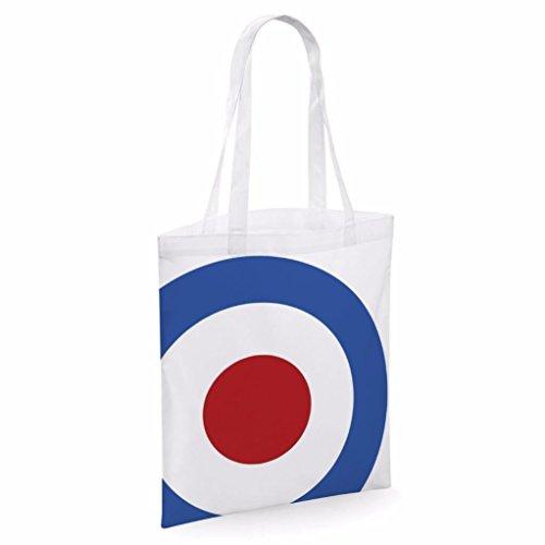 Tote bag pour femme Mod Roundel imprimé sac épaule sacs en toile