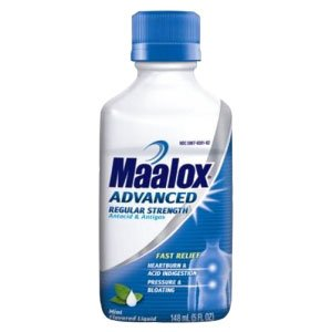 Image: Maalox Advanced Regular Strength Antacid ~ Mint Flavored Liquid ~ 5oz