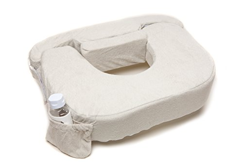 My Best Friend Twin Deluxe Nursing Pillow Slipcover Heather(Only Cover), Light Grey - 1