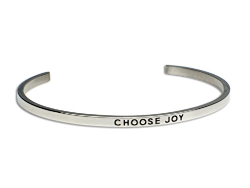 CHOOSE JOY:Gift for Her,Mantra Bracelet, Inspirational gift,100% Guaranteed,Perfect Gift.