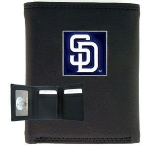 MLB Leather and Nylon Trifold - San Diego - Leather & Nylon Trifold Wallet