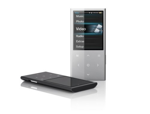 Coby 2.4 Inch Touchpad Video MP3 Player 4 GB with FM MP757-4GBLK (Black)