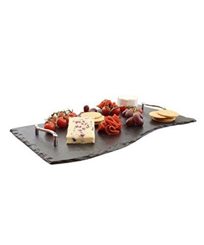 50 x 30 cm Bandeja con onda en forma de platos individuales Slate, negro