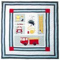 "Fire Truck Quilt King 105""x 95"" QKFRTR by Patch Magic"