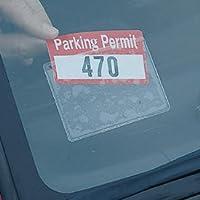 Parking Permit Holder - Sticky Back - For Windshield - 2 Pack
