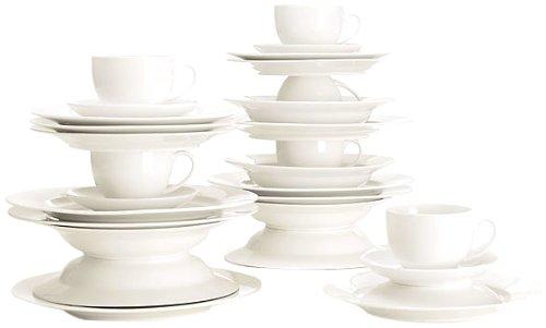 maxwell williams p208 white basics servizio piatti tazze in porcellana 30 pz confezione. Black Bedroom Furniture Sets. Home Design Ideas