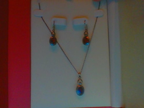 coldwater-creek-sterling-silver-genuine-garnet-stone-set-necklace-and-earrings