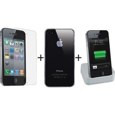 Ozaki iNeed Home Kit case borsa, Dock & Folie per Apple iPhone 4 IPK101A