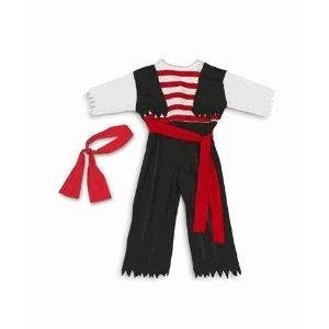 Black Pirate Costume Child's for dressup or Halloween! (2T-4T)