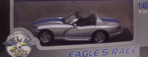 Eagle's Race 3627 1998 Dodge Viper RT/10 - Convertible - Silver with Blue Stipes - Legend Series - 1:43 Scale Diecast (Dodge Viper Model compare prices)