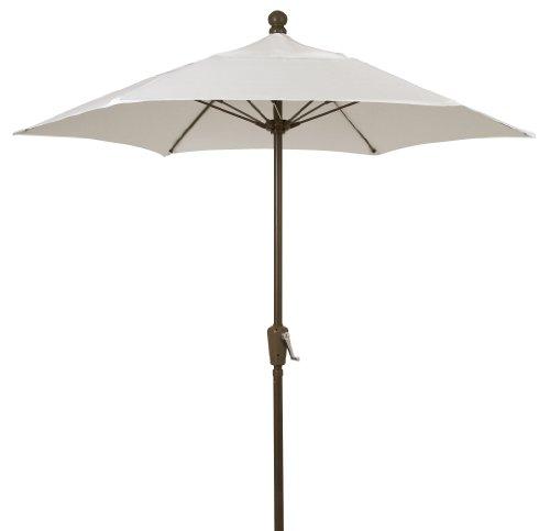 FiberBuilt Umbrellas Terrace Umbrella, 9 Foot Natural Tone Canopy and Champagne Bronze Pole