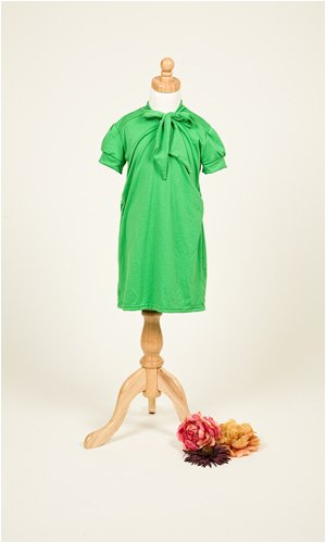 Shabby Apple Girls Dress: 45 Words Per Minute; Color: apple green; Size: 10/12