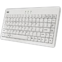 Adesso Mini USB Keyboard with PS/2 Adaptor ( White)