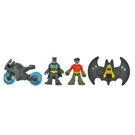 Fisher Price Imaginext Super Friends Batman Batcave Batman, Robin, Motorcycle, and Flight Suit